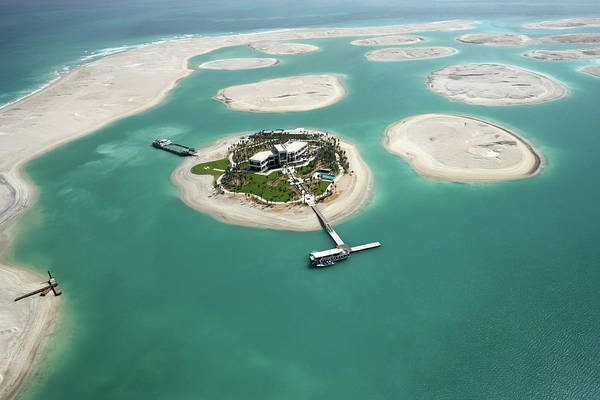 Luxury Yacht Photograph - Aerial View Of World Islands, Dubai by Motivate Publishing