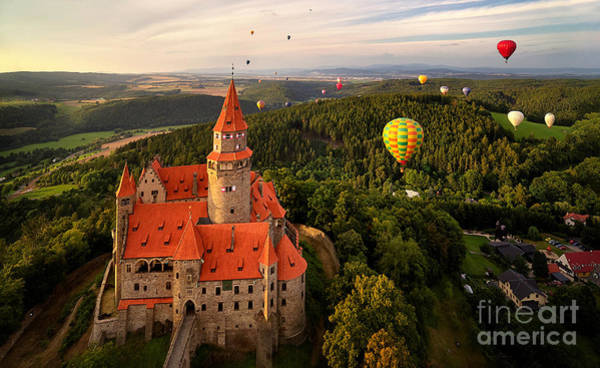 Wall Art - Photograph - Aerial View On Romantic Fairy Castle by Martin Mecnarowski