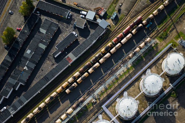 Wall Art - Photograph - Aerial View Over The Railway by Miks Mihails Ignats