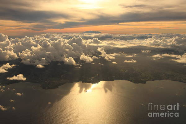 Wall Art - Photograph - Aerial View Sunset Over Antigua In The by Achim Baque