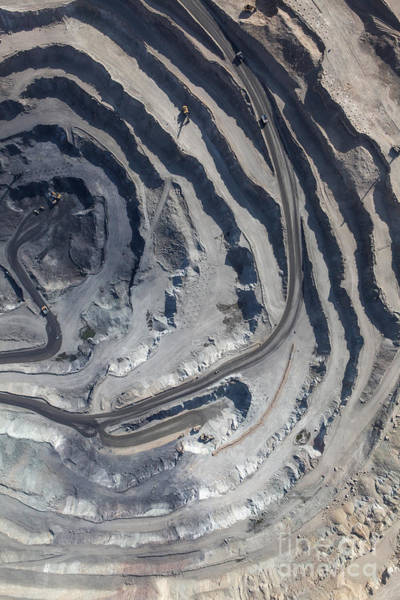 Mineral Wall Art - Photograph - Aerial View To The Iron Ore Open Mine by M.khebra