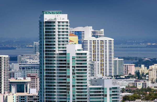 Biscayne Wall Art - Photograph - Aerial Waterfront Condominiums Miami by Scott B Smith Photography