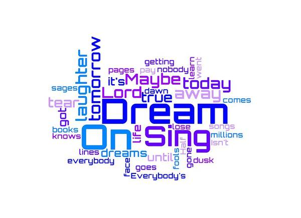 Joe Perry Digital Art - Aerosmith - Dream On Lyrical Cloud by Susan Maxwell Schmidt