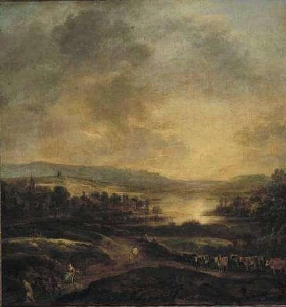 Wall Art - Painting - Aert Van Der Neer,  Landscape 25 by Aert van der Neer