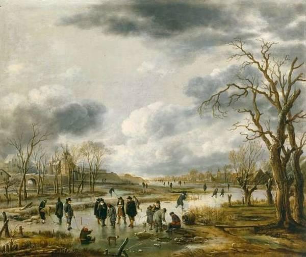 Wall Art - Painting - Aert Van Der Neer,  Landscape 8 by Aert van der Neer