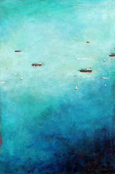 Freighter Wall Art - Painting - Afloat by Barb Pearson