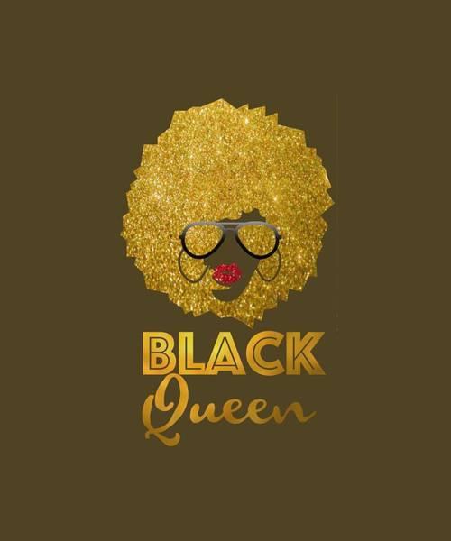 Wall Art - Digital Art - Africa Black Queen Shirt Black Lives Matter Pro Black Tee by Unique Tees