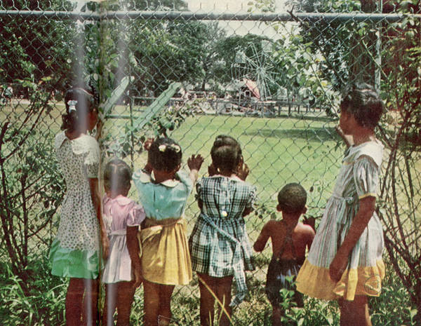 Photograph - African American Children Peering by Gordon Parks