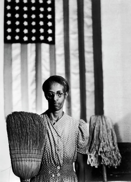 Broom Photograph - African American Cleaning Woman Ella by Gordon Parks