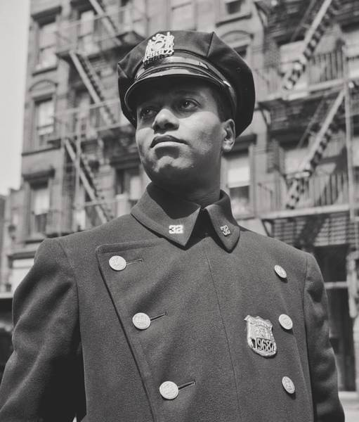 Tenement Photograph - African American New York City Police Officer 1943 by Mountain Dreams