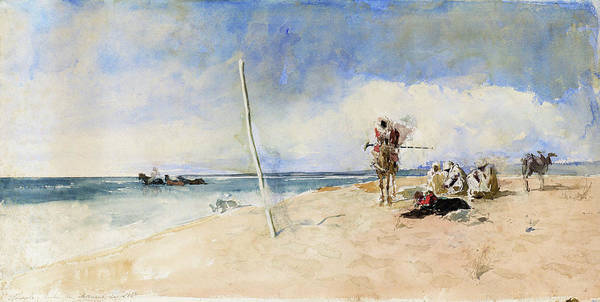 Wall Art - Painting - African Beach - Digital Remastered Edition by Mariano Fortuny