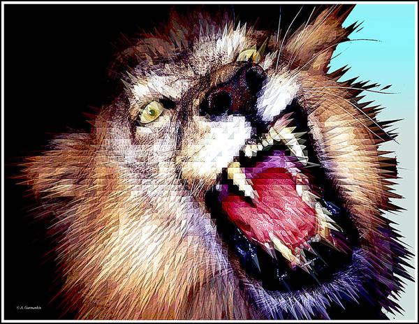 Photograph - African Lion Stylization by A Gurmankin