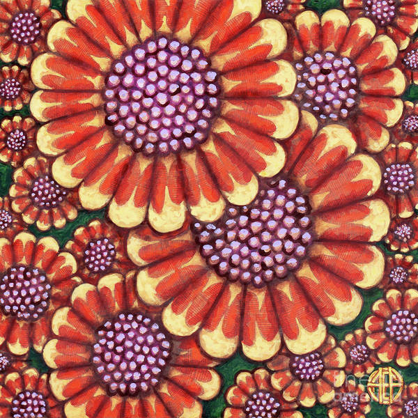 Painting - African Orange Daisy Tapestry by Amy E Fraser