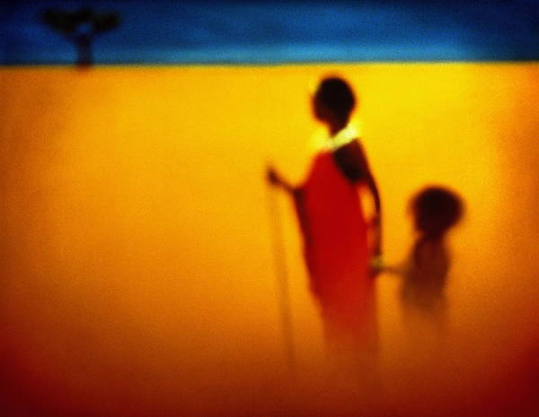 Wall Art - Photograph - African Tribeswoman And Child, Studio by Philip Lee Harvey