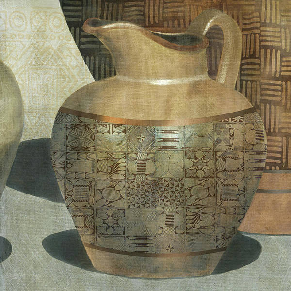 Pitcher Painting - African Vessel 1 by Carol Robinson