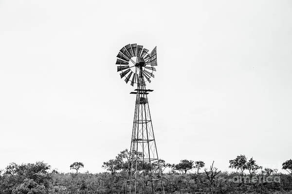 Wall Art - Photograph - African Windmill - Bw by Scott Pellegrin