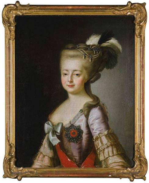 Wall Art - Painting - After Alexander Roslin 1718-1793 Portrait Of Empress Maria Fedorovna by Celestial Images