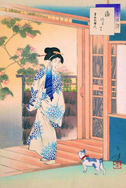 Wall Art - Painting - After Bath - Top Quality Image Edition by Mizuno Toshikata