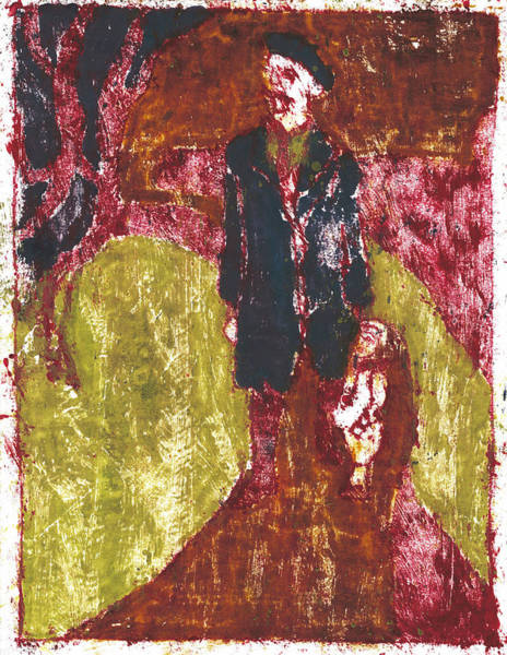 Painting - After Billy Childish Painting Otd 10 by Artist Dot