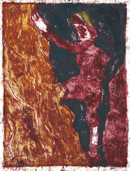 Painting - After Billy Childish Painting Otd 11 by Artist Dot