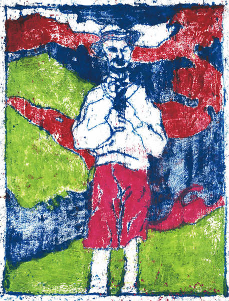 Painting - After Billy Childish Painting Otd 16 by Artist Dot
