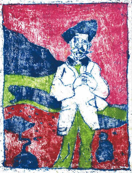 Painting - After Billy Childish Painting Otd 17 by Artist Dot