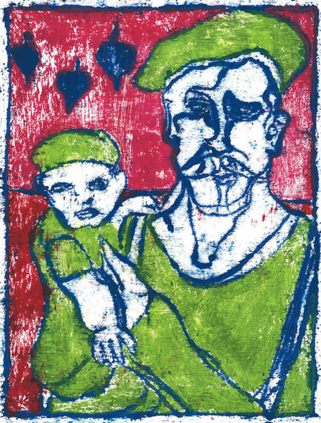 Painting - After Billy Childish Painting Otd 19 by Artist Dot