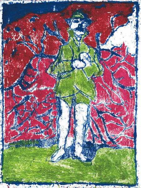 Painting - After Billy Childish Painting Otd 22 by Artist Dot