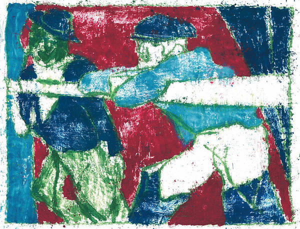 Painting - After Billy Childish Painting Otd 26 by Artist Dot
