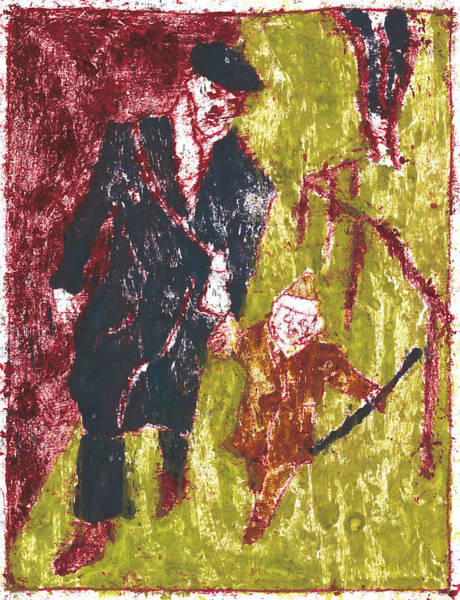 Painting - After Billy Childish Painting Otd 3 by Artist Dot