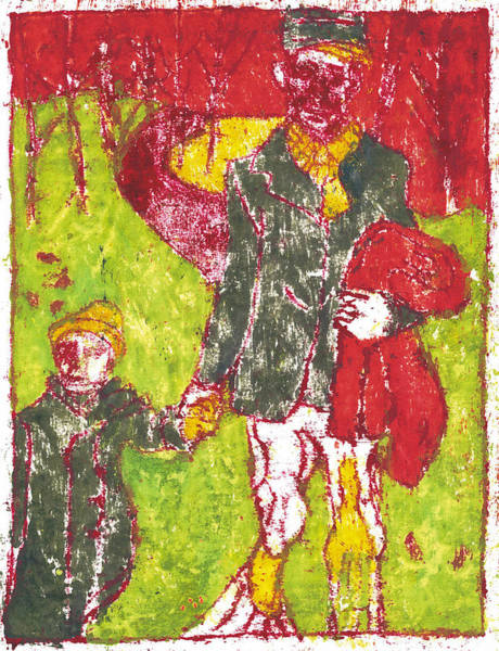 Painting - After Billy Childish Painting Otd 35 by Artist Dot