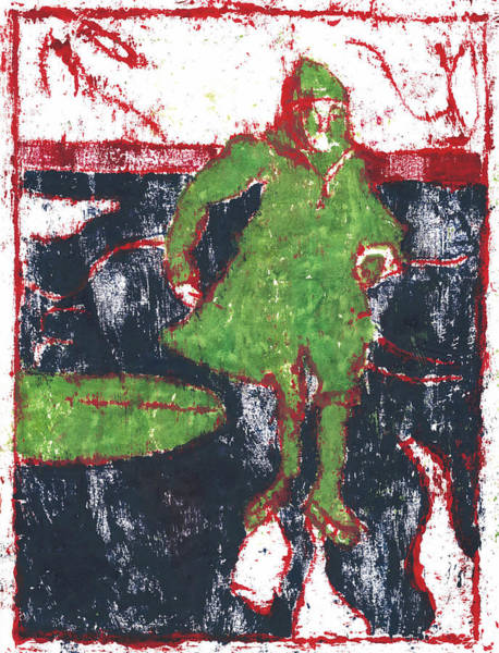 Painting - After Billy Childish Painting Otd 36 by Artist Dot