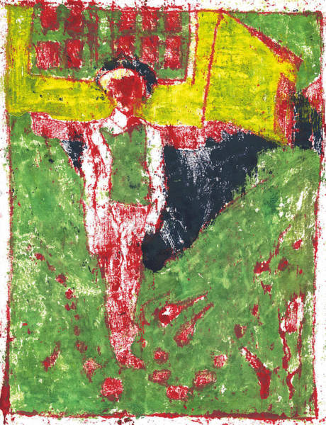 Painting - After Billy Childish Painting Otd 37 by Artist Dot