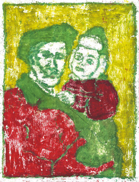 Painting - After Billy Childish Painting Otd 42 by Artist Dot