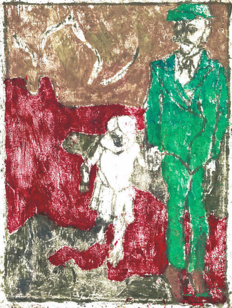 Painting - After Billy Childish Painting Otd 43 by Artist Dot