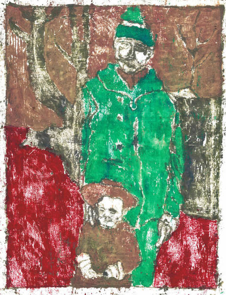 Painting - After Billy Childish Painting Otd 44 by Artist Dot