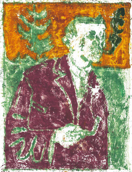 Painting - After Billy Childish Painting Otd 9 by Artist Dot