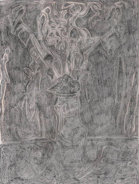 Drawing - After Billy Childish Pencil Drawing 1 by Artist Dot