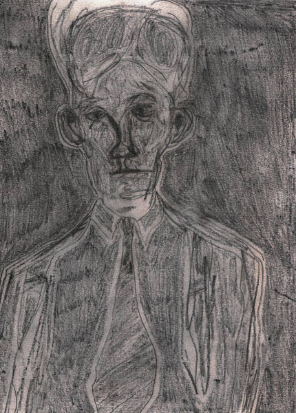 Drawing - After Billy Childish Pencil Drawing 12 by Artist Dot