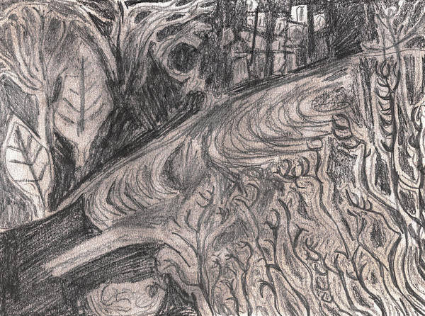 Drawing - After Billy Childish Pencil Drawing 29 by Artist Dot