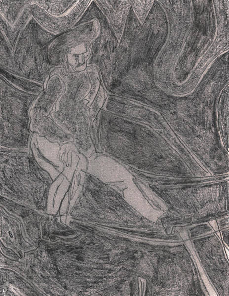 Drawing - After Billy Childish Pencil Drawing 40 by Artist Dot