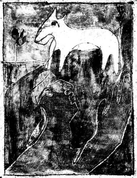 Digital Art - After Childish Edgeworth Black And White Print 22 by Artist Dot