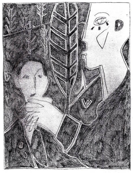 Drawing - After Childish Edgeworth Pencil Drawing 18 by Artist Dot