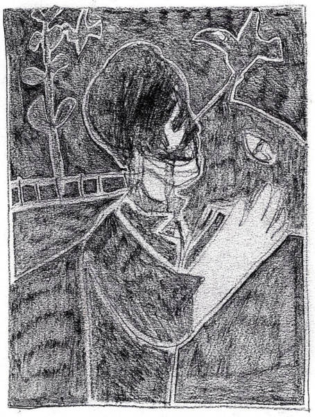 Drawing - After Childish Edgeworth Pencil Drawing 2 by Artist Dot