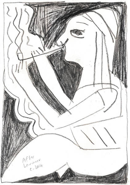 Drawing - After Mikhail Larionov Pencil Drawing 1 by Artist Dot