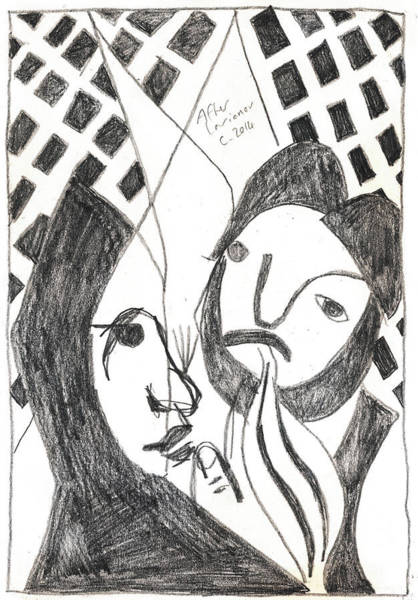 Drawing - After Mikhail Larionov Pencil Drawing 14 by Artist Dot