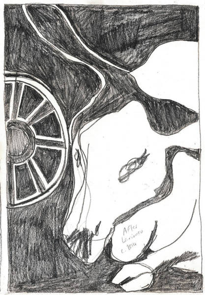 Drawing - After Mikhail Larionov Pencil Drawing 15 by Artist Dot