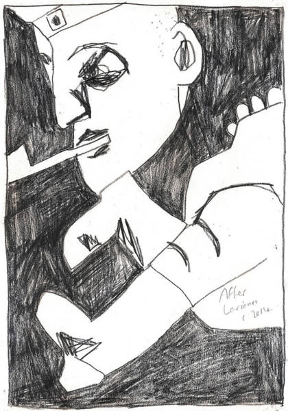 Drawing - After Mikhail Larionov Pencil Drawing 4 by Artist Dot