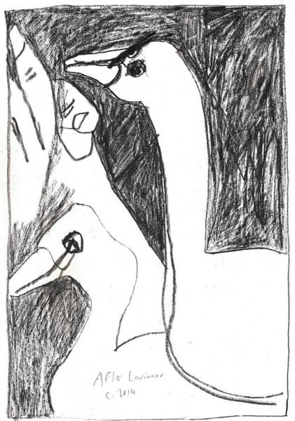 Drawing - After Mikhail Larionov Pencil Drawing 5 by Artist Dot