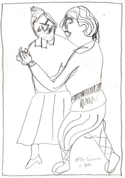 Drawing - After Mikhail Larionov Pencil Drawing 8 by Artist Dot